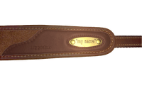 "Detail des Gewehrgurts ""MY NAME"" Classic Loden"