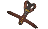 "Harness ""FOLLOW"" in brown with 3 strap buckles"