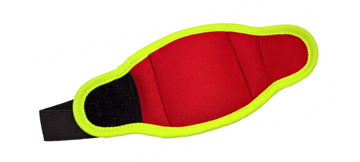 GPS-Tracker pouch in red-yellow