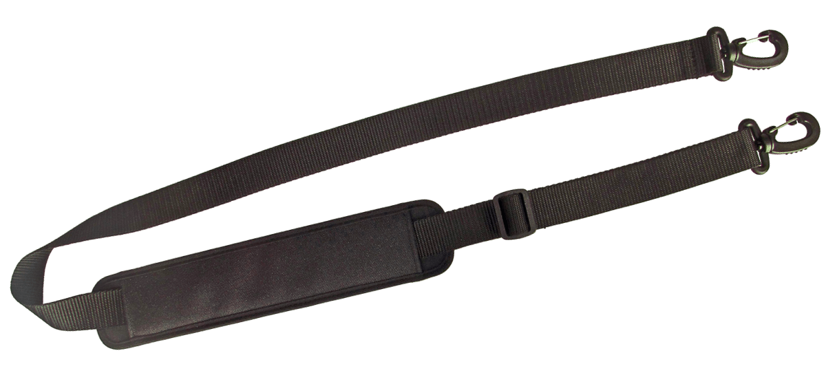 Universal length-adjustable carrying strap with anti-slip and snap hook