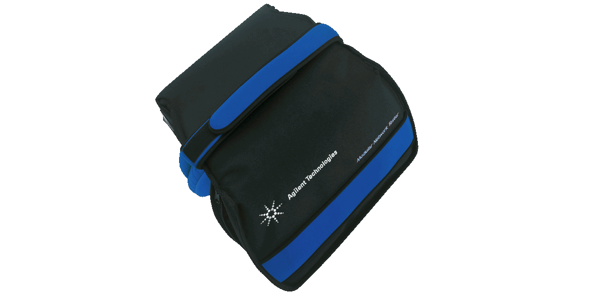 Carrying bag made of Cordura® for a mobile monitoring device