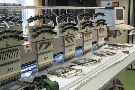 Embroidery machines at Niggeloh